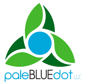 paleBLUEdot LLC logo stacked transparent
