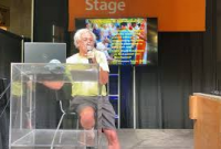Alliance president Terry Gips presenting at the Minnesota State Fair.
