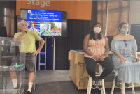 Alliance president Terry Gips, intern Abigail Mathew, and board member Toya Lopez present at the Minnesota State Fair.